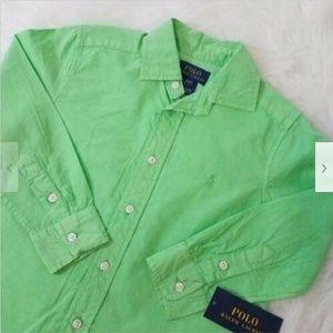 Polo Ralph Lauren Button Shirt Sz 5 Green